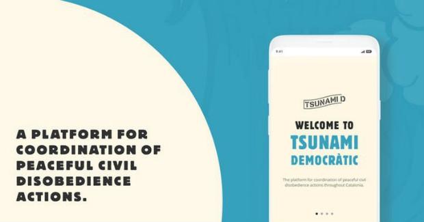 L'application de Tsunami Democràtic - Tsunami Democràtic