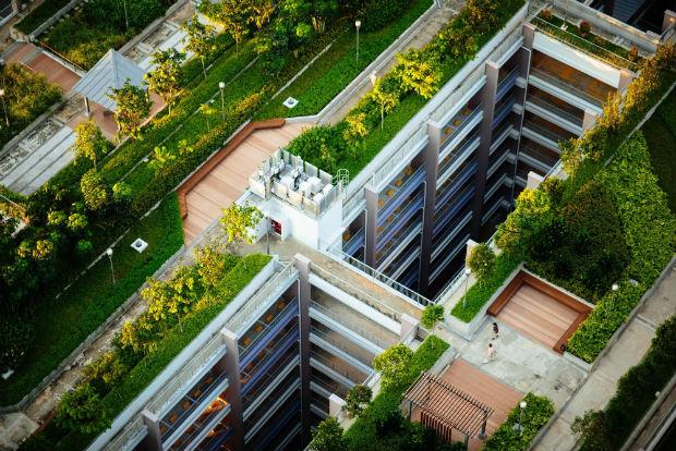 Espaces aménagés sur les toits à Singapour - source : @chuttersnap via unsplash
