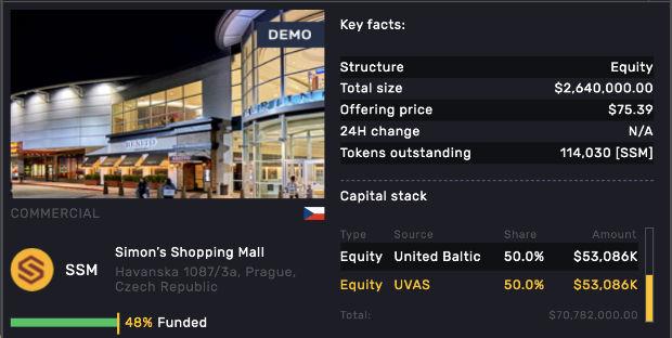 Exemple d'annonce sur le site Atlant.io d'investissement immobilier via la blockchain - Atlant.io