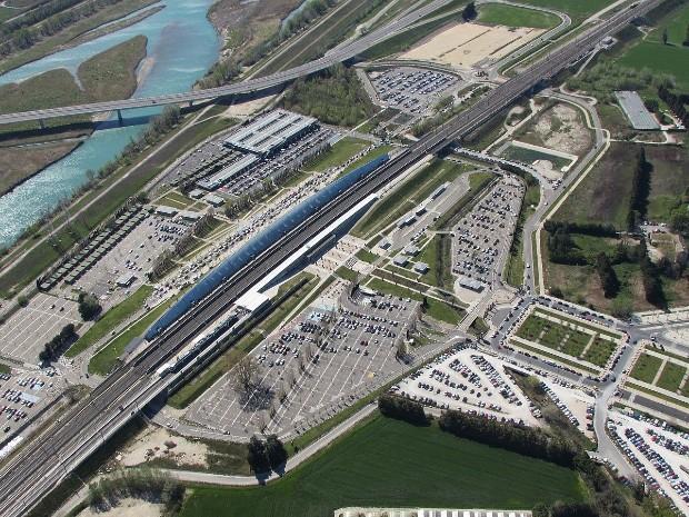Quartier de la gare TGV d'Avignon - Crédit : MattMoissa sur Wikipédia