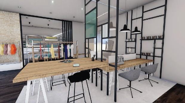 Seconde Histoire est le nom du magasin imaginé par Juline Vettier pour re-valoriser les vêtements en leur offrant une nouvelle vie © Juline Vettier