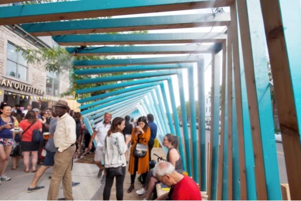 La vague: un projet de rafraîchissement urbain au cœur de Montréal © Arcadia Studio