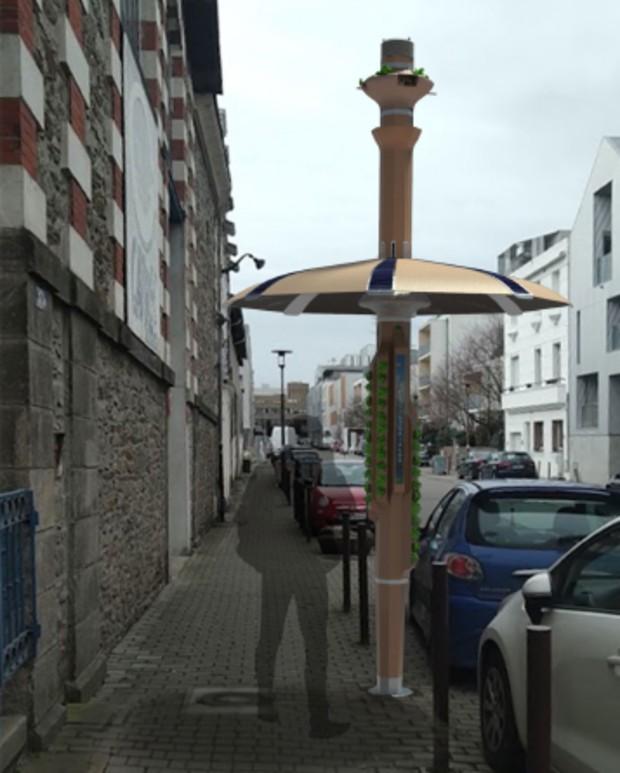 Oasis est un mobilier urbain inventé pour lutter contre les îlots de chaleur en centre-ville © Gabriel Côme
