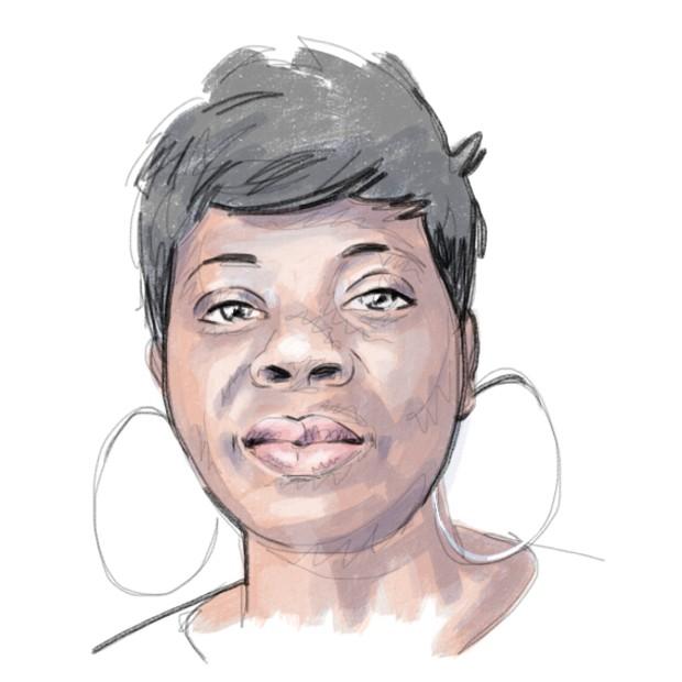 Portrait de Georgette - Source : Visage d'en Faces