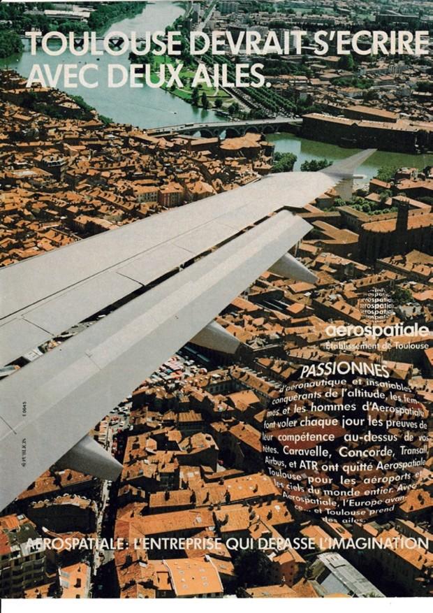 Toulouse Territoire d'Avenir - Encart de promotion de Toulouse et de l'Aérospatiale, 1991