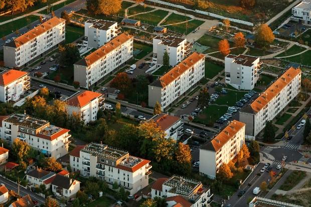 Vue aérienne sur l'Ecoquartier Molière crédit Arnaud Späni - Ville des Mureaux