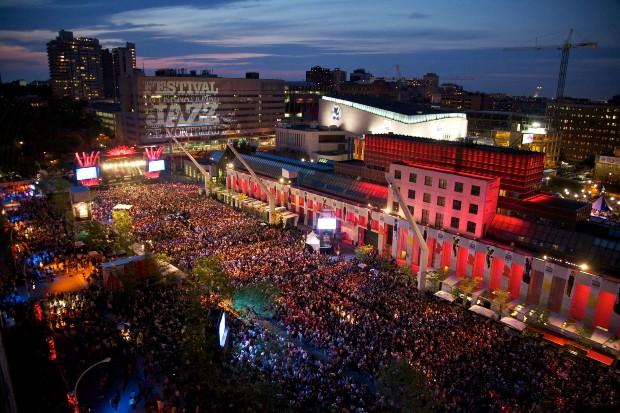 Le Quartiers des Spectacles à Montréal lors du festival international de Jazz - Quartier des Spectacles/Jean-François LeBlanc