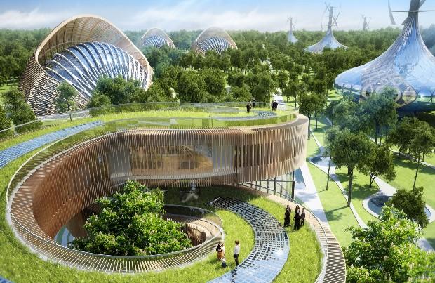 En Chine, le Verger des Saveurs est un projet d'éco-hameau à énergie positive - Vincent Callebaut Architectures