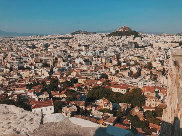 Vue sur Athènes via unsplash