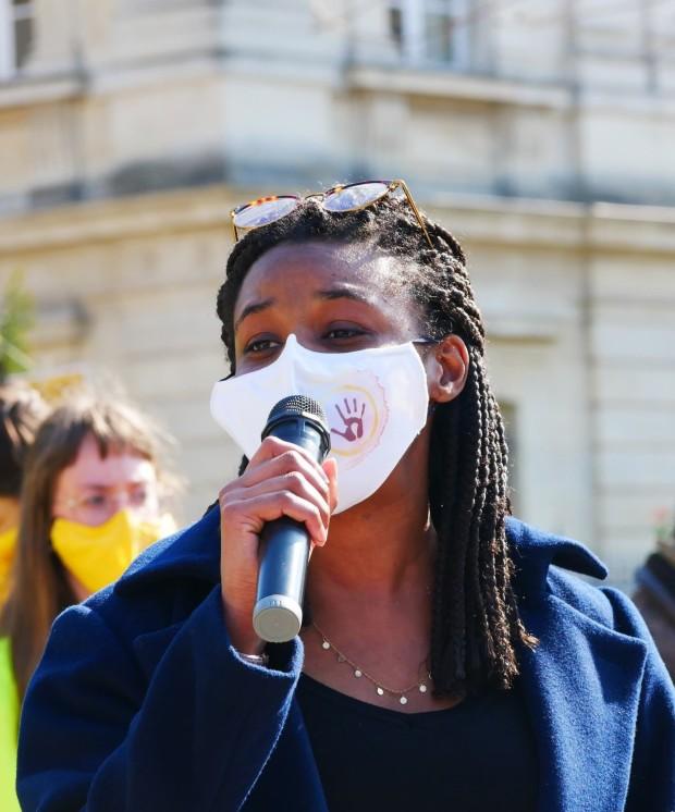 Doris Marchand, Porte-parole AlternatibaANVCop21, Mars 2021, Procès d'Amiens ©Samuel Pnr