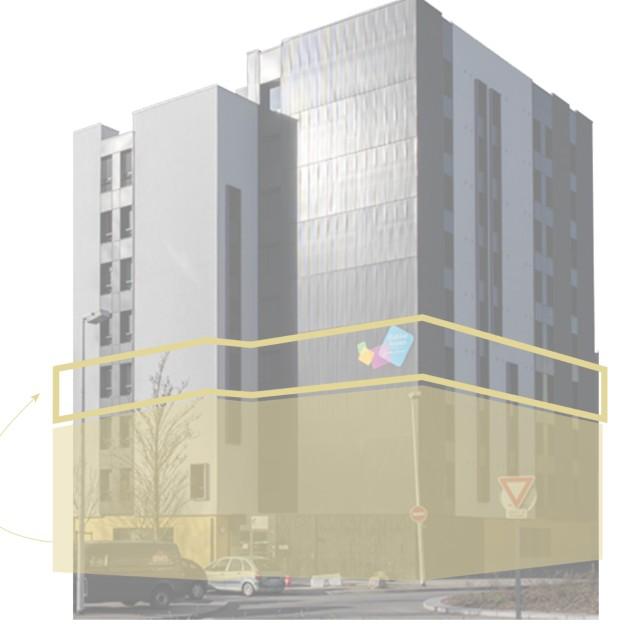 Vue de principe du projet PALUA d'Axelle Thibaud : transformer des espaces existants en lieux d'accueil d'urgence ou de convivialité.
