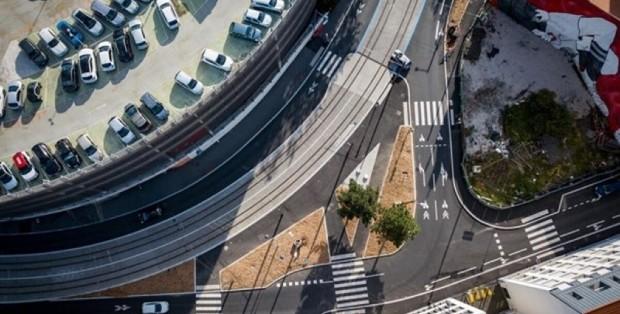 St-Etienne - Ligne de tramway à Saint-Etienne - crédits Eurovia