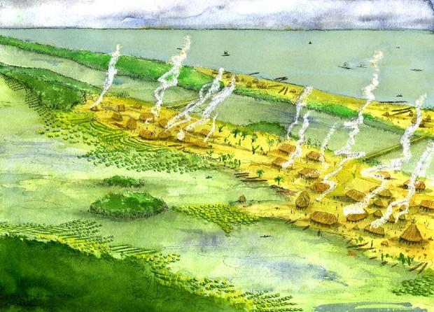 Reconstitution de l'habitat précolombien et des structures agricoles associées du littoral guyanais - Stéphen Rostain