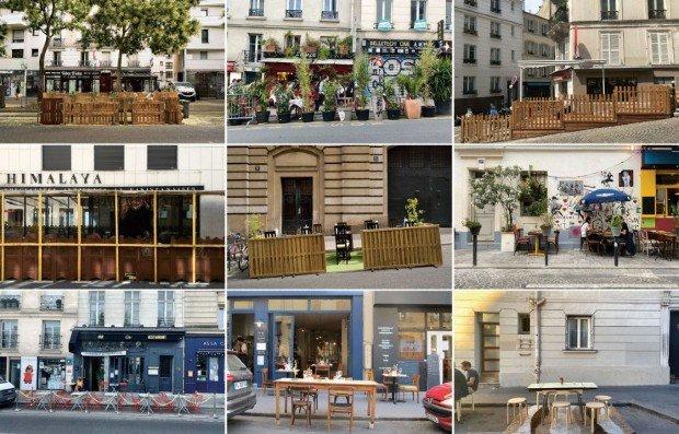 Série de photos des terrasses temporaires parisiennes en 2020 - Encore Heureux