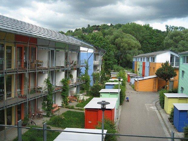 Quartier Vauban, un des premiers écoquartier, dans la ville allemande de Fribourg-en-Brisgau. ©wikipedia