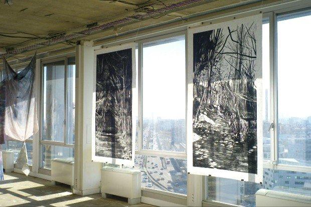 Lisières, exposition collective d'artistes à POUSH ©Lucile Boiron