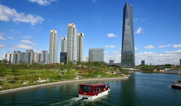 Songdo City, en Corée du Sud