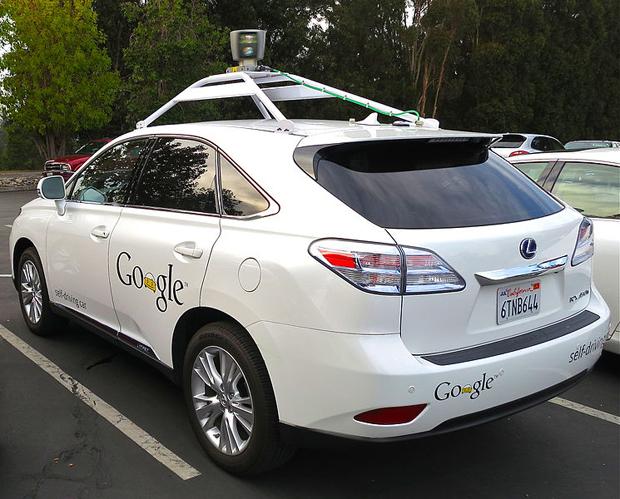 Google's Lexus RX450h Self-Driving Car. Crédit : Steve Jurvetson