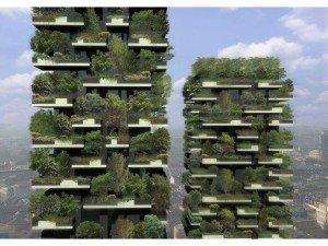 Les deux tours milanaises seront recouvertes de 900 arbres longs de 3 à 9 mètres, l'équivalent d'un hectare de forêt.