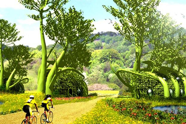 Pour l'urbaniste Mitchell Joachim, dans la ville de demain, les arbres feront partie de la structure des maisons. Copyright : Mitchell Joachim / TerreformONE