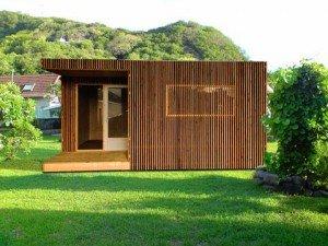 Les cabanes de jardin GreenKub sont construites par Woodway, une société d'Aurillac spécialisée dans les constructions préfabriquées en bois. Copyright : Greenkub