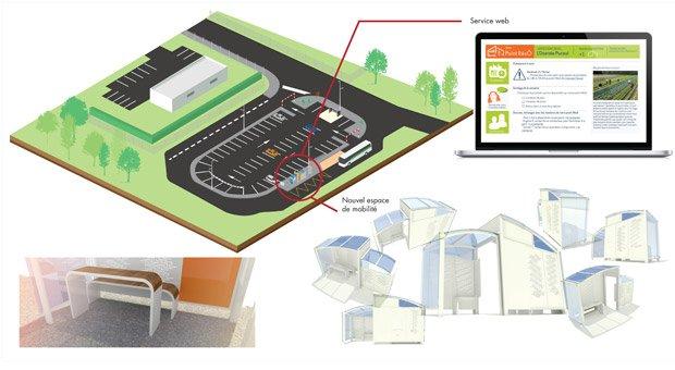 Antoine Lemesle propose aux usagers d'organiser leur mobilité de façon intelligente à travers des espaces intermodaux augmentés. ©Antoine Lemesle