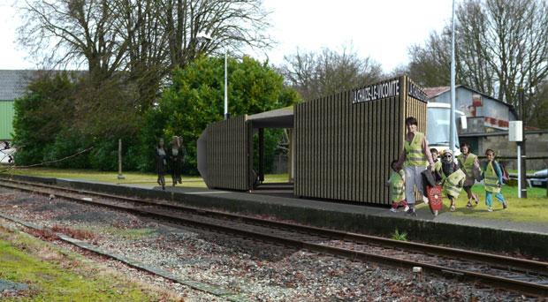 Laura Duteau propose de dynamiser les haltes ferroviaires péri-urbaines ©Laura Duteau