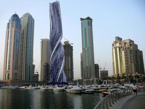 La Dynamic Tower à Dubaï, aux Émirats arabes unis. Copyright : Dynamic Architecture / David Fisher