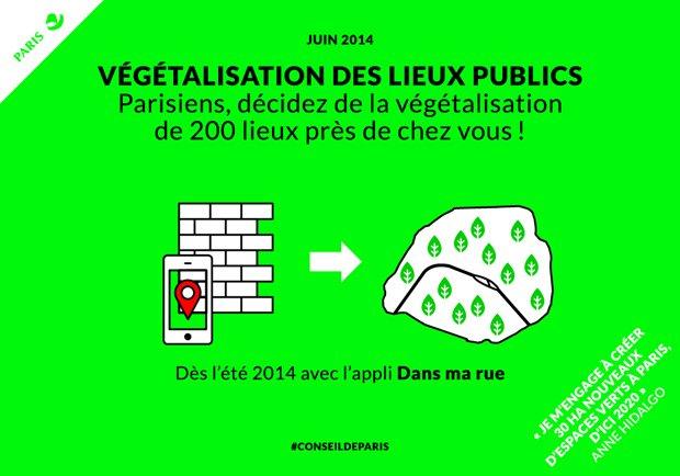 Conseil de Paris : participez à la végétalisation de Paris ! via Paris.fr