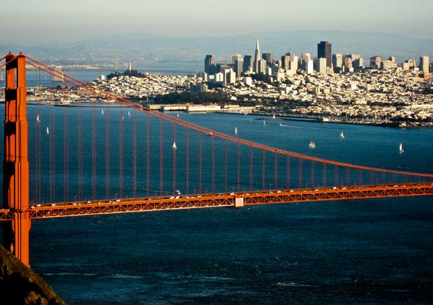 Vue de San Francisco depuis Marin Highlands. Copyright : Phomchick / Wikimedia