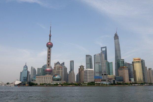 Pudong à Shanghai, le quartier d'affaire de Shanghai construit en une trentaine d'années (crédit photo Antoine Dubois)