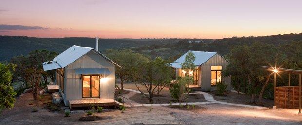 Système de préfabrication ouvert pour la construction de maisons, conçu par Lake & Flato Architects. Copyright : Frank Ooms