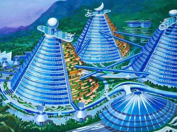 Dans le futur, les immeubles de Pyongyang seront-ils en forme de cônes ? Copyright : Paekdusan Construction / Architectural Research Institute