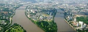 Vue panoramique de l'île de Nantes (Loire Atlantique). Copyright : Jibi44 / Wikimedia