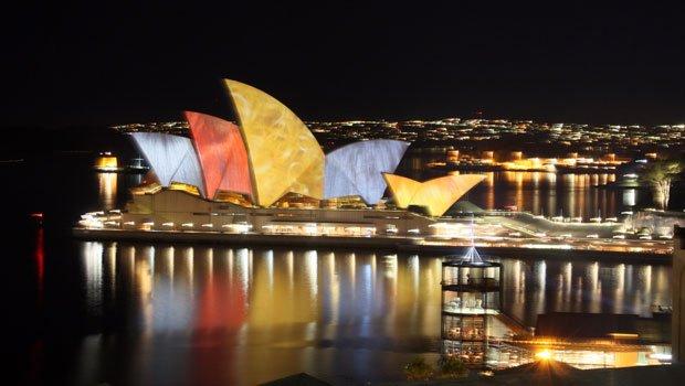 En 2014, le festival Vivid Sydney a présenté 56 installations réalisées par 140 artistes en provenance d'une quinzaine de pays différents. Copyright : david_a_1 / Flickr