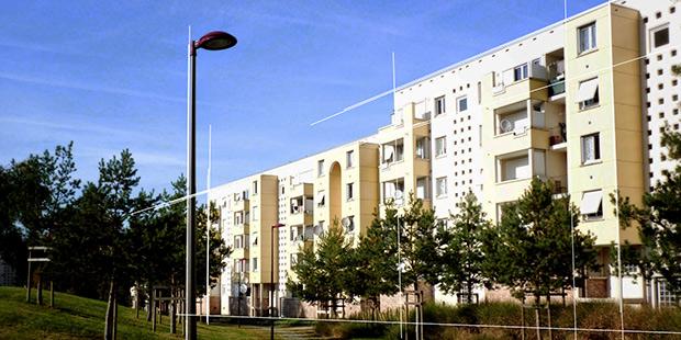 Quartier des Glonnières - Le Mans : Architecte : Jean-Maur Lyonnet ; Photographe : Delphine Huart
