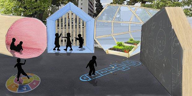 Enfant espace public ; Crédits : Claire Le Floch