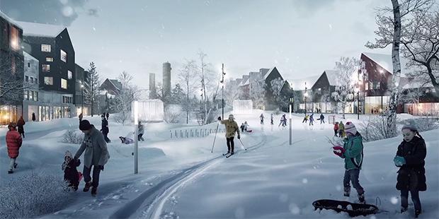 Déménagement Kiruna ; Crédits : White Arkitekter / Vimeo