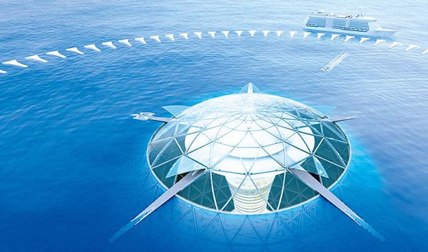 Coût océan spiral ; Copyright : Shimizu Corp.