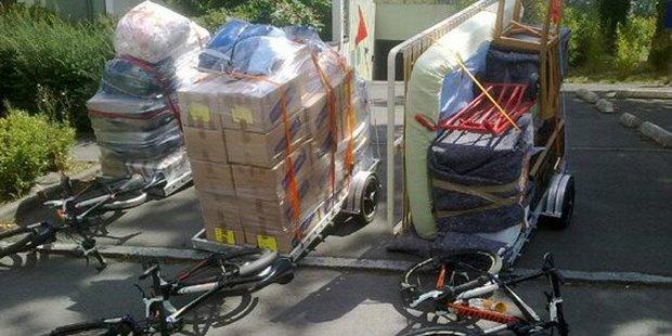 Déménager à Vélo ; Crédits : huffingtonpost