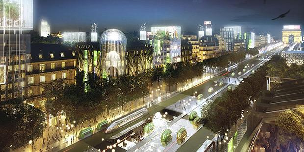 Champs-élysées du futur - Paris ; Copyright : Jean-Paul Viguier et associés
