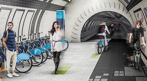 Piste souterraine - Londres ; Copyright : Gensler