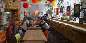 La Bicyletterie à Lyon, un café-vélo où vous pouvez déposer votre bicyclette.