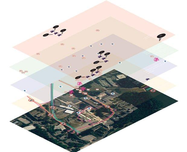 superposition de data. Crédits : Camille de Langenhagen, Laure Mercier, Clément Breuille - L'Ecole de design Nantes Atlantique