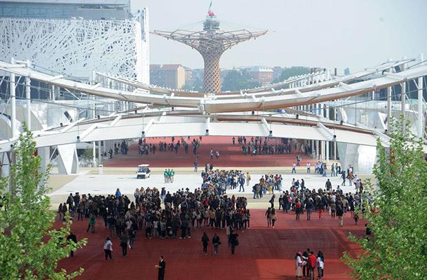 Porte d'entrée de l'expo universelle. Copyright : Expo 2015 / Daniele Mascolo