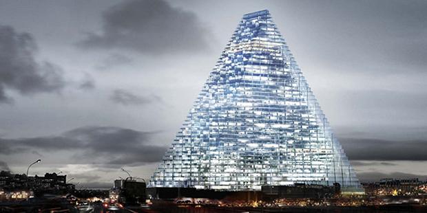 regards d architectes sur la tour triangle demain la ville. Black Bedroom Furniture Sets. Home Design Ideas
