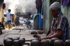 Potier dans la rue. Crédits : Clément Pairot