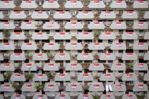 Façade d'immeuble sur la Selegie Road, à Singapour. Crédits : Darren Soh