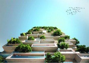 Les travaux d'aménagement de la « Tour des Cèdres » démarreront en 2017 et devraient être achevés en 2020. Copyright : Stefano Boeri Architetti