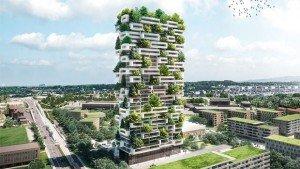 La future « Tour des Cèdres » fera appel à l'énergie solaire et à la collecte d'eau de pluie pour préserver l'environnement. Copyright : Stefano Boeri Architetti